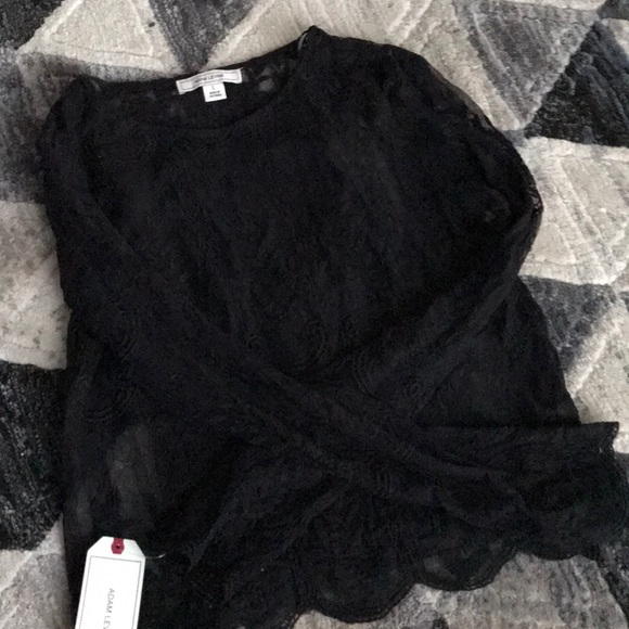 Adam Levine Collection Tops - Adam Levine black lace shirt